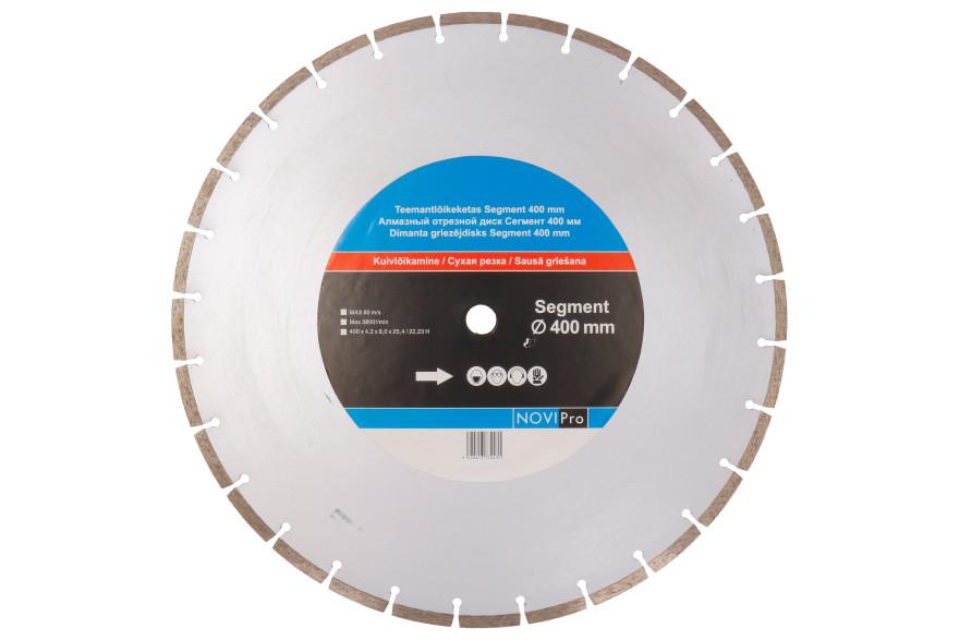 Segmented diamond disc 400mm, Novipro