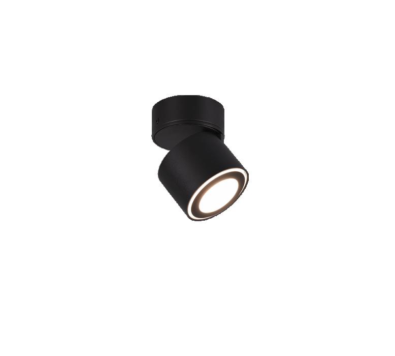 Потолочный светильник TRIO Taurus 1XLED SMD 3.5W 340Lm 3000K 1XLED 1.5W 110Lm 3000K черный 652910132