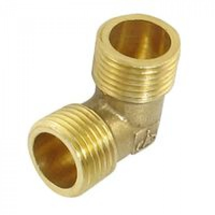 """Brass connection elbow  1/2"""" MM"""