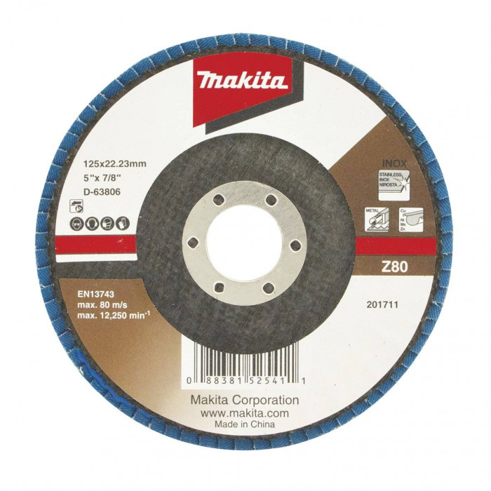 Fan-shaped grinding wheel Makita Economy; 125 mm; Z80, D-63806
