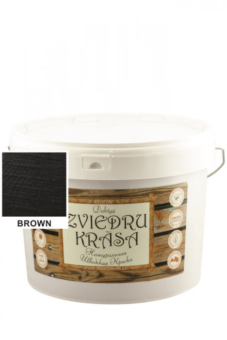 Stafor Natural SWEDISH Paint 10L brown