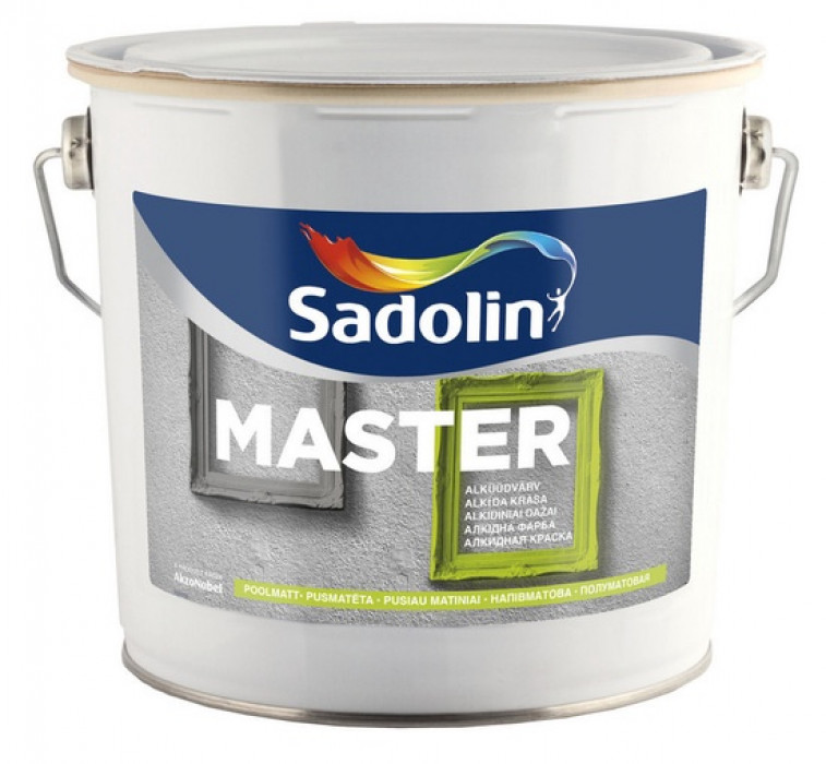 Sadolin ALKYD ENAMEL PAINT MASTER 30 BC 2,33L Semi-matt