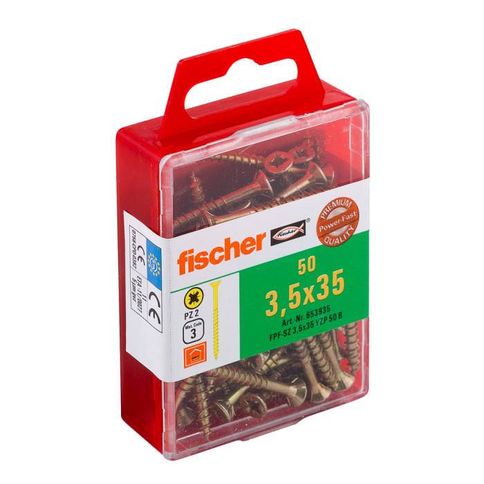 FISCHER Шурупы по дереву FPF-SZ 3.5x35 YZ 50шт. / Упак. 653935