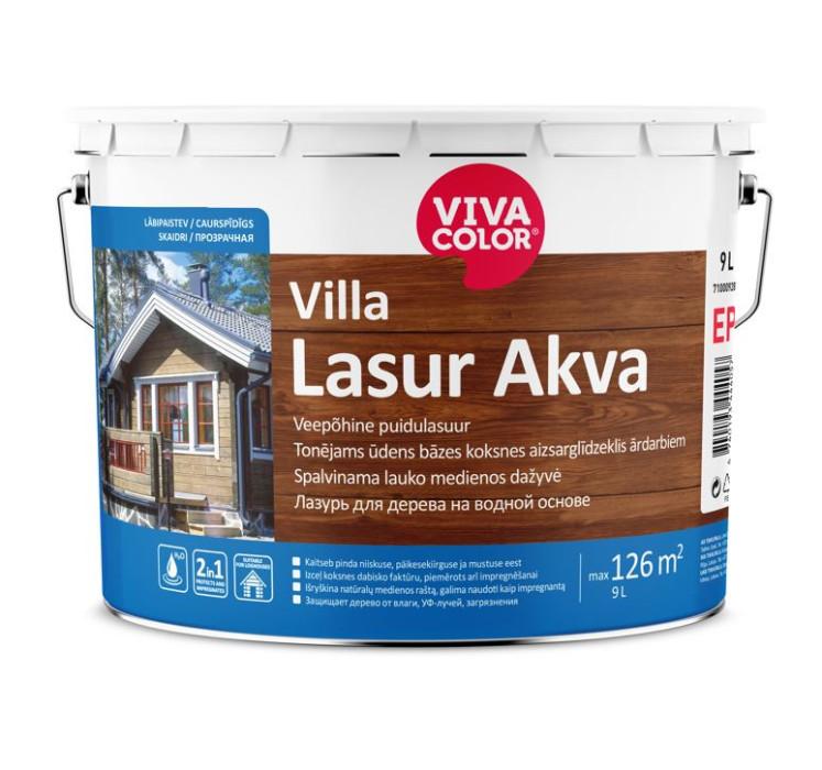 Vivacolor VILLA LASUR AKVA EP 9L Tonējams antiseptiķis Kolorex Akva