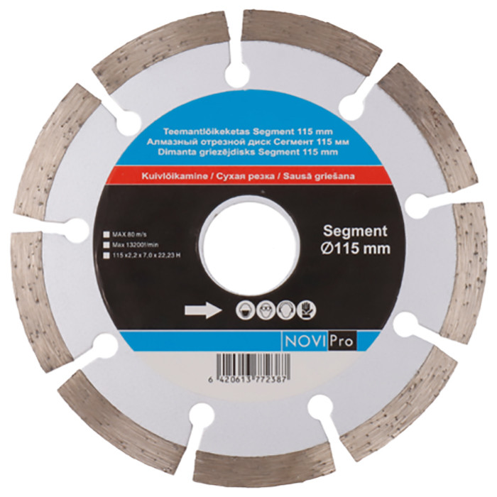 Segmented diamond disc 115mm, Novipro