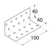 Stūra leņķis  40x40x100x2.0 mm