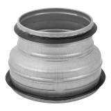 transitionjointmetal,125-100mmwithrubber,extruded