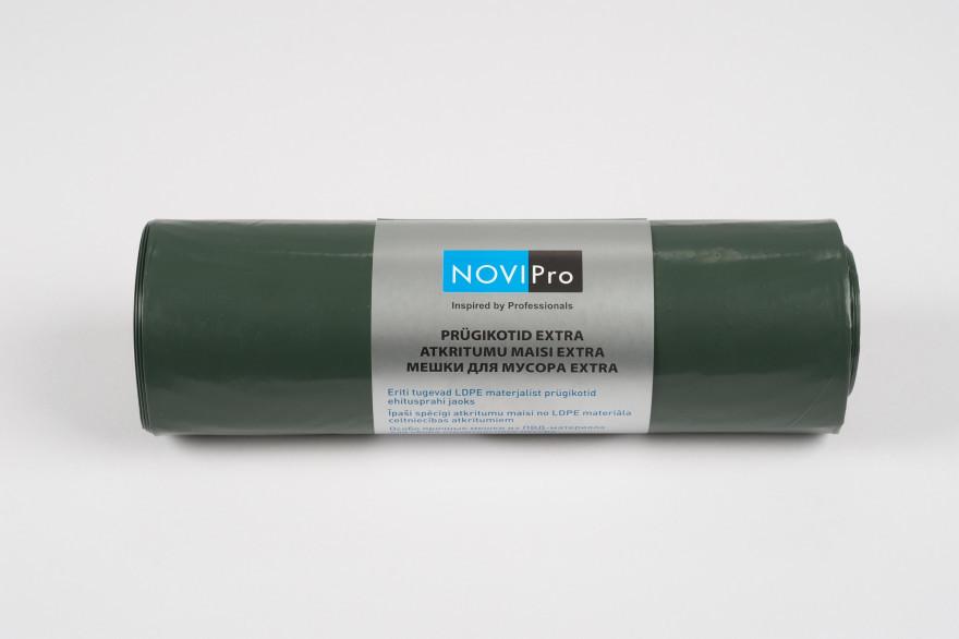 NOVIPro Atkritumu maisi 100l  5gb/rullī zaļi