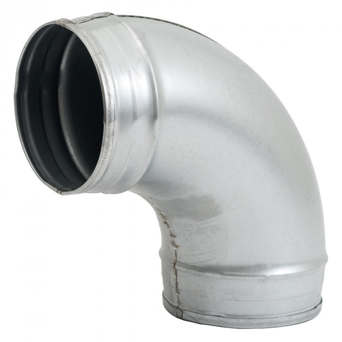elbow metal, 90*- Ø125mm without rubber, extruded