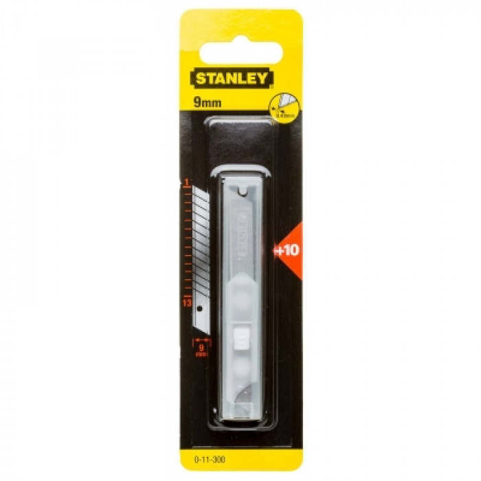 STANLEY 0-11-300  Snap-Off Knife Blades 9mm 10 Pack