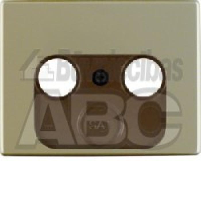 BERKER ARSYS steel centre plate for aerial socket 2-/3 hole