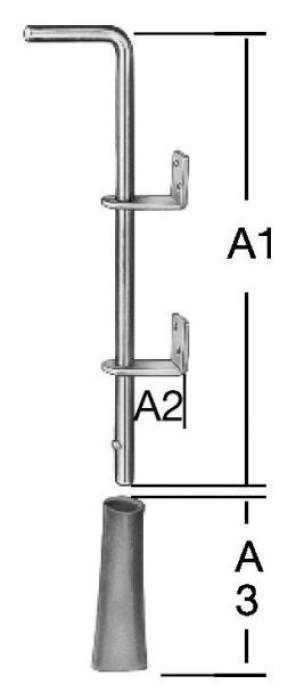 Floor-fastening bolts 400mm Steel / ZN