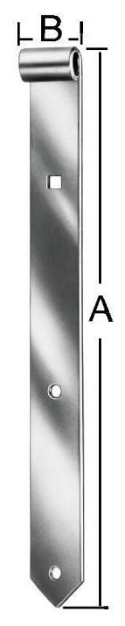 Shutter hinges 500x40x13mm Steel / ZN