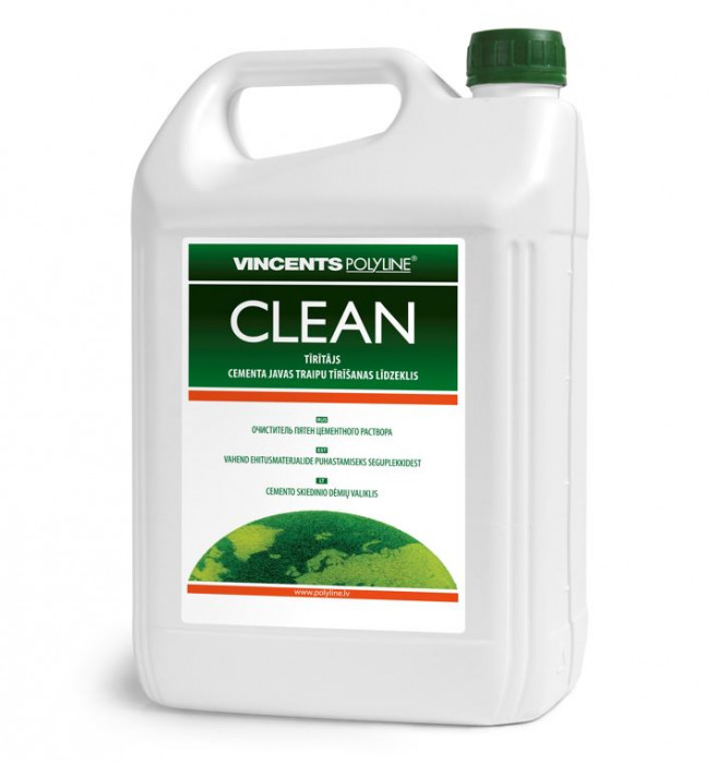 Vincents CLEAN 10L cleaner for removing cement and mortar splashes
