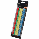 FASTER TOOLS Glue sticks MIX COLOR 11 x 200mm  10 pcs