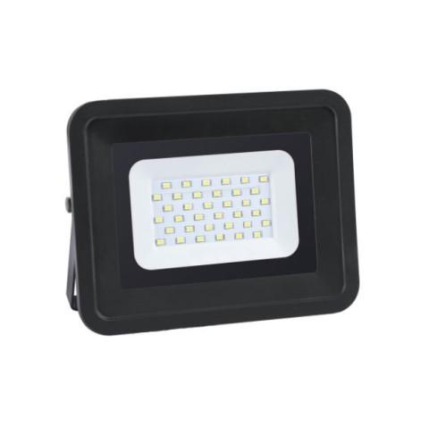 Prožektors LED 30W IP65  2700Lm 4000K,melns