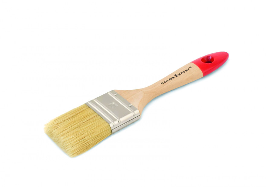 COLOR EXPERT Flat brush 50mm 6th grade mix, light  bristle, hardwood handl
