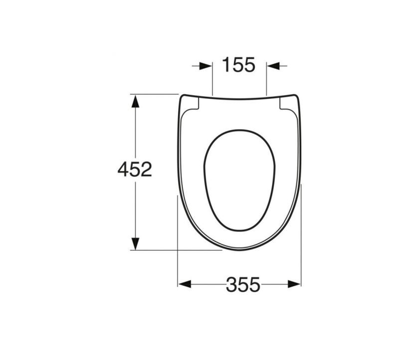 Toilet seat Nautic 9M25 - Rigid fixings