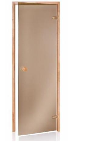 Durvis ANDRES saunai SCAN  690x1990mm, 8mm bronza