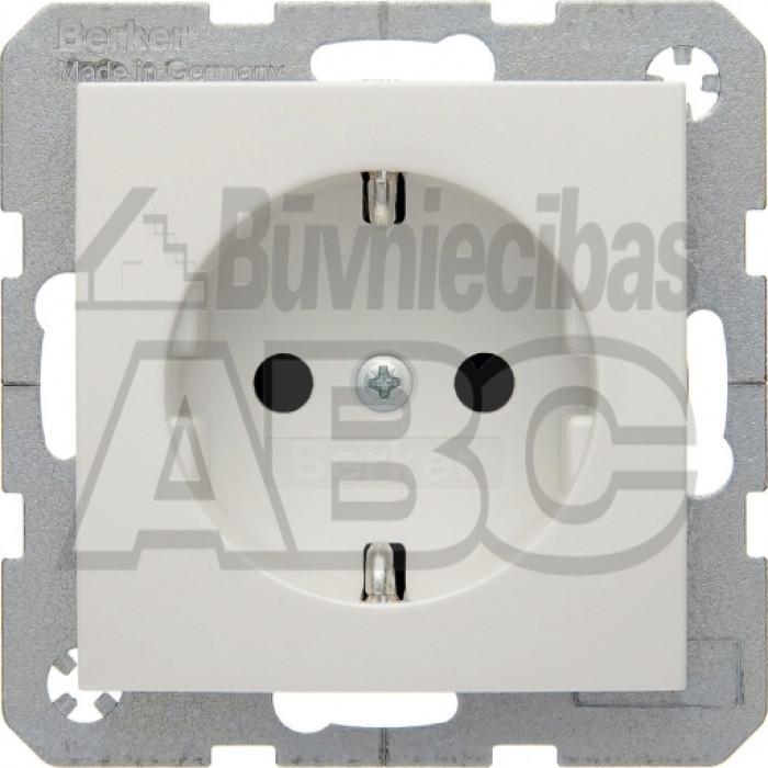 BERKER S1 polar white glossy socket