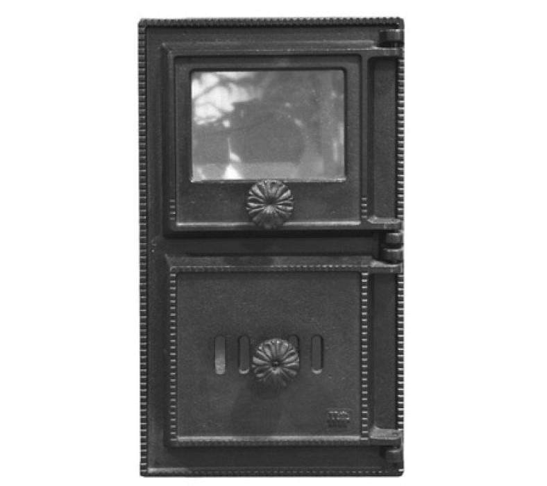 Pisla plīts durvis HTT136  180*345 ar stiklu