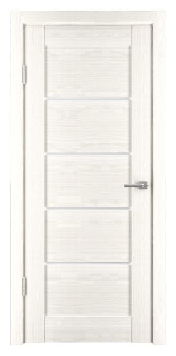 Durvis Horizontal-1 bianco O  80x200 ar k., stiklu, frēz.