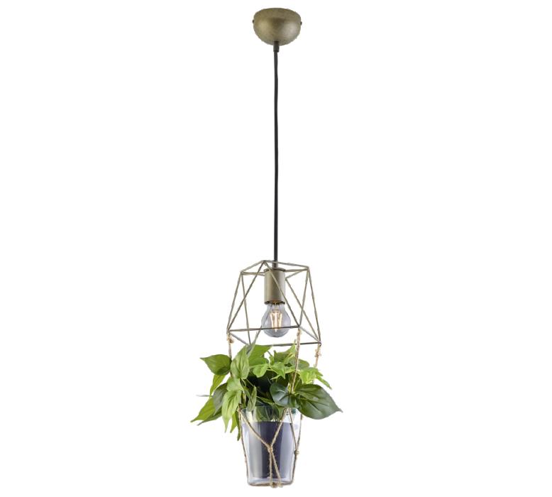 Griestu lampa TRIO Plant 1XE27 max10W nickel antique 301000167