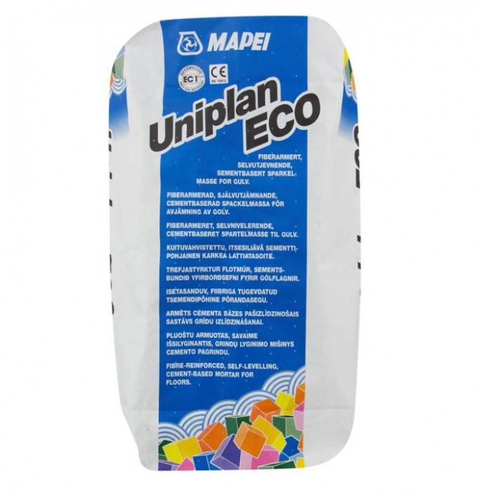 Mapei UNIPLAN Eco 20kg 3-50mm Fibre reinforced self-levelling, cement based mortar for floors