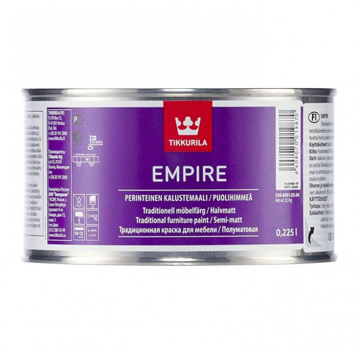 Tikkurila EMPIRE C 0.225L alkyd paint for furniture