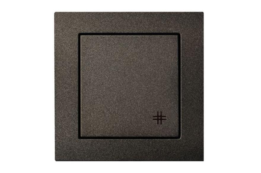 Criss-cross, 1-gang switch without frame LIREGUS EPSILON black