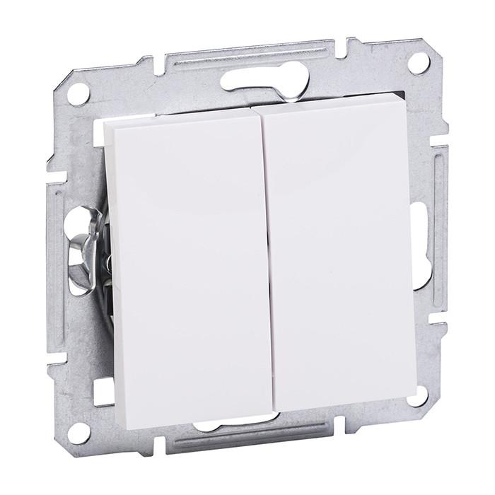 ASFORA white two-button switch