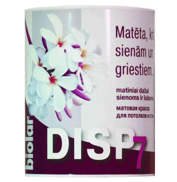 Biolar DISP7 base A 0.9L Matēta krāsa sienām/griestiem