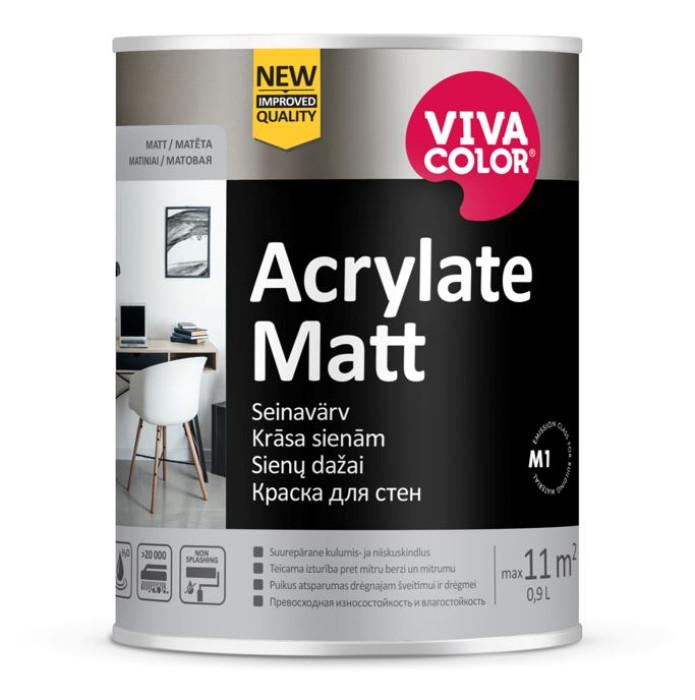 Vivacolor Acrylate Matt 7 A 0.9L Wearproof wall paint