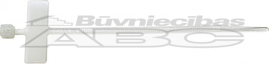 ELEMATIC cable ties with identification 110x2.5mm white