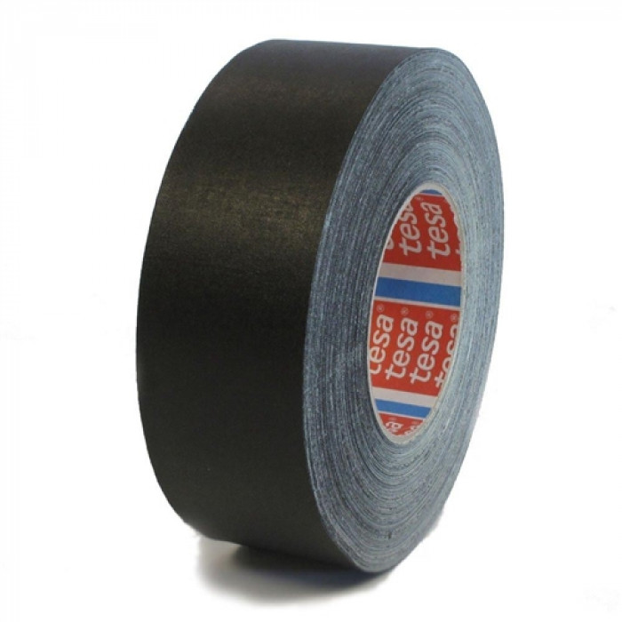 tesa 04651 Premium acrylic coated cloth tape 25mx50mm Black
