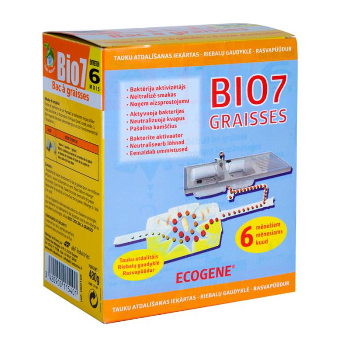 Biological activator BIO7 Graisses, to treat grease traps