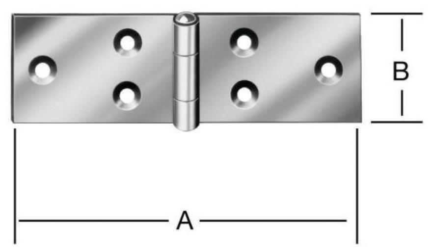 Wide flap hinges 120x33 Steel / ZN