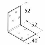 Stūra leņķis  50x50x40x2.0 mm