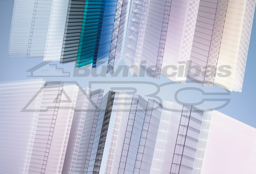 Multiwall polycarbonate (PC) clear 6x1050x2000mm