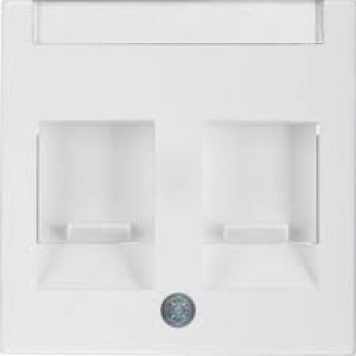 BERKER S1 белый глянцевый Центральная панель с 2 пылезащитными заслонками