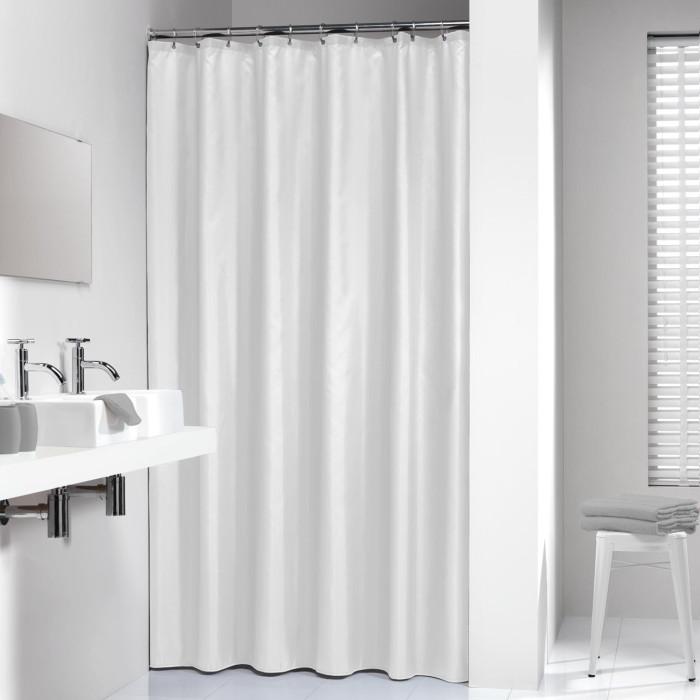 MADEIRA Душевая занавеска, текстиль, 180х200, белая