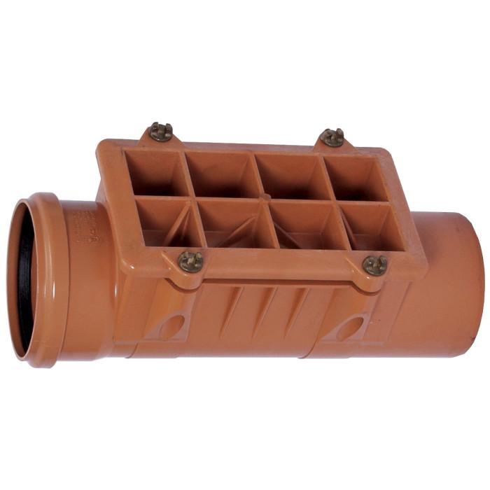 203741600 PVC revīzija ar vāku  160 Wavin 1753196  kanalizācijas revīzija D160 mm
