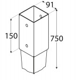Staba pamatne 91x750x2.0mm
