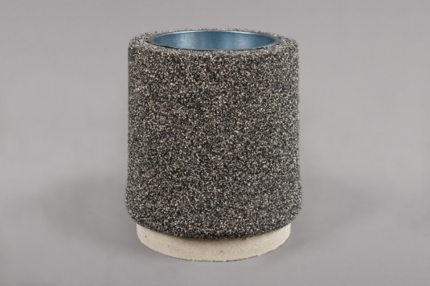 Dekoratīvā atkritumu urna 11 ar akmens smalci,bazalta