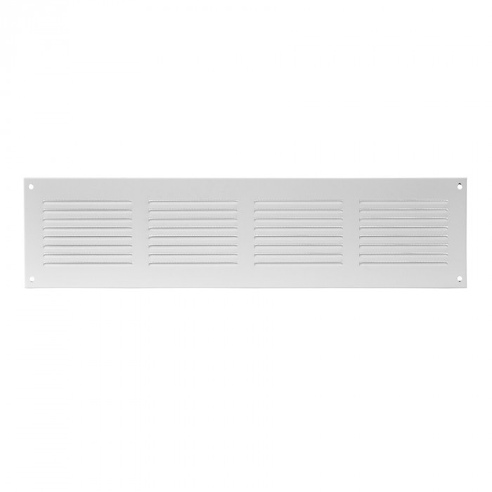 grille metal, 400x100mm, white