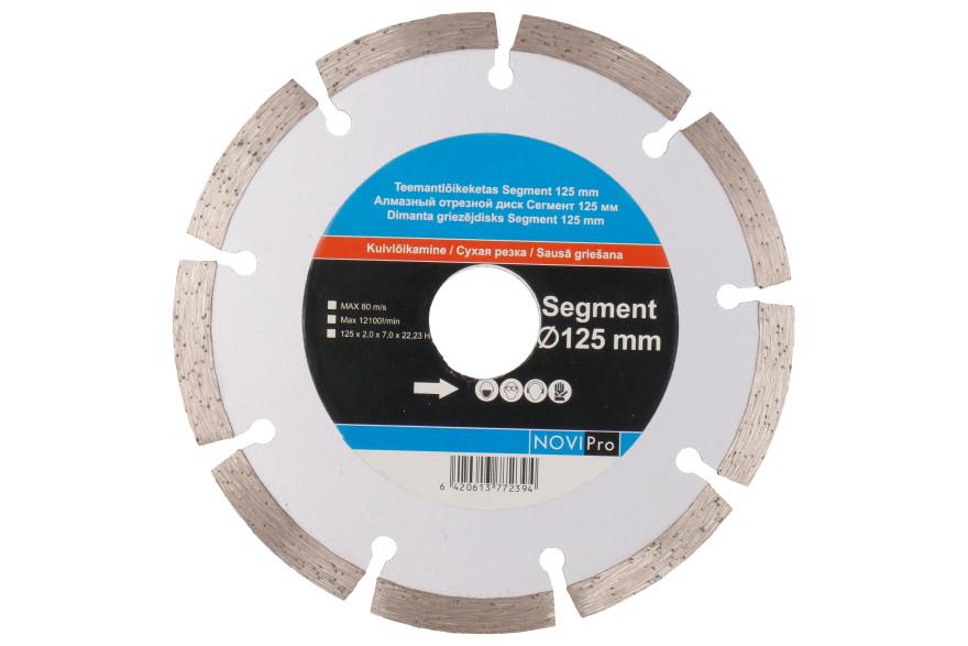 Segmented diamond disc 125mm, Novipro