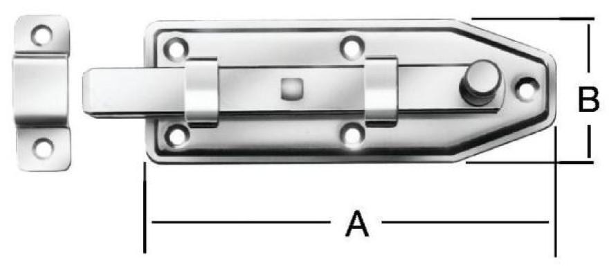Window bolts 60x25mm Steel/ZN