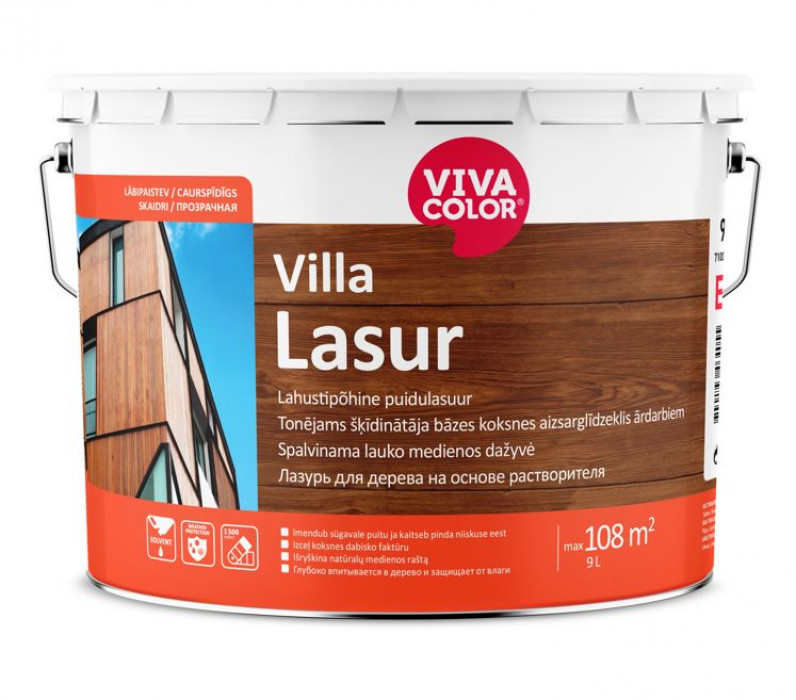 Vivacolor VILLA LASUR EC 9L Tintable wood impregnant