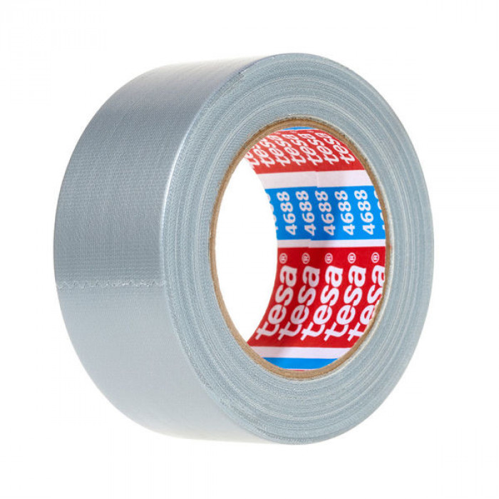 tesa 04688 Standard polyethylene coated cloth tape 25mx50mm Silvergrey