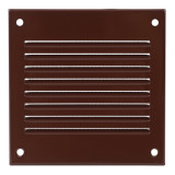grille metal, 100x100mm, brown